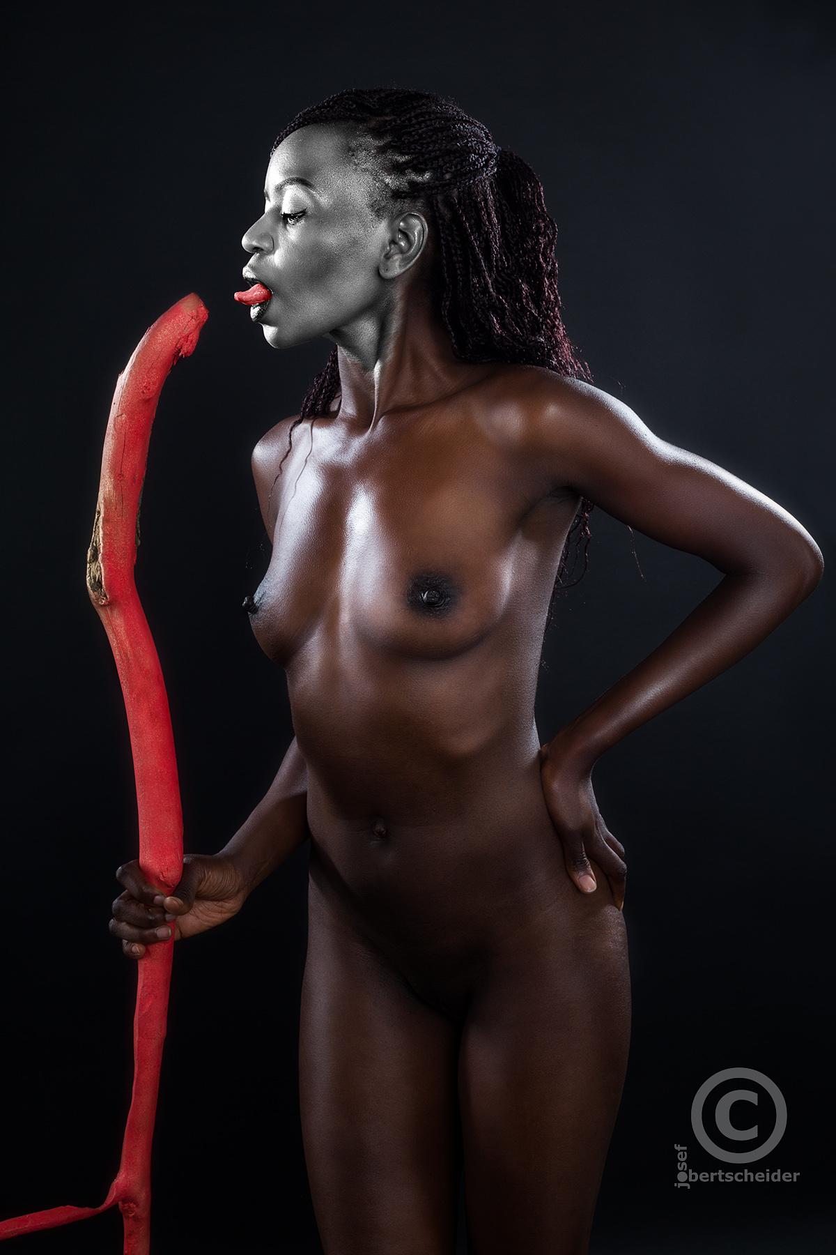 Inszenierte Fotografie mit Model Afroqueen