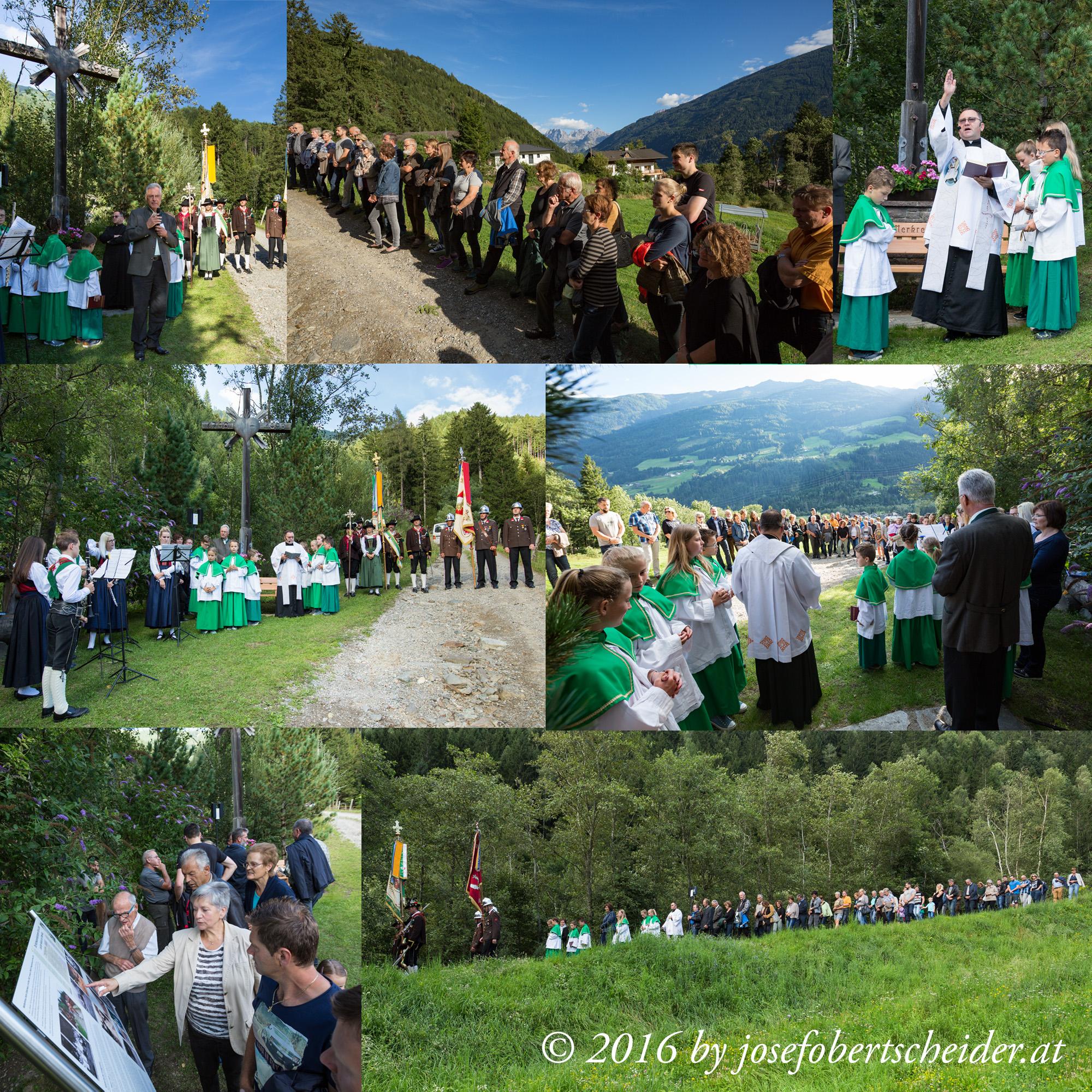 Gedenkfeier beim Wetterkreuz am Daberbach in Ainet