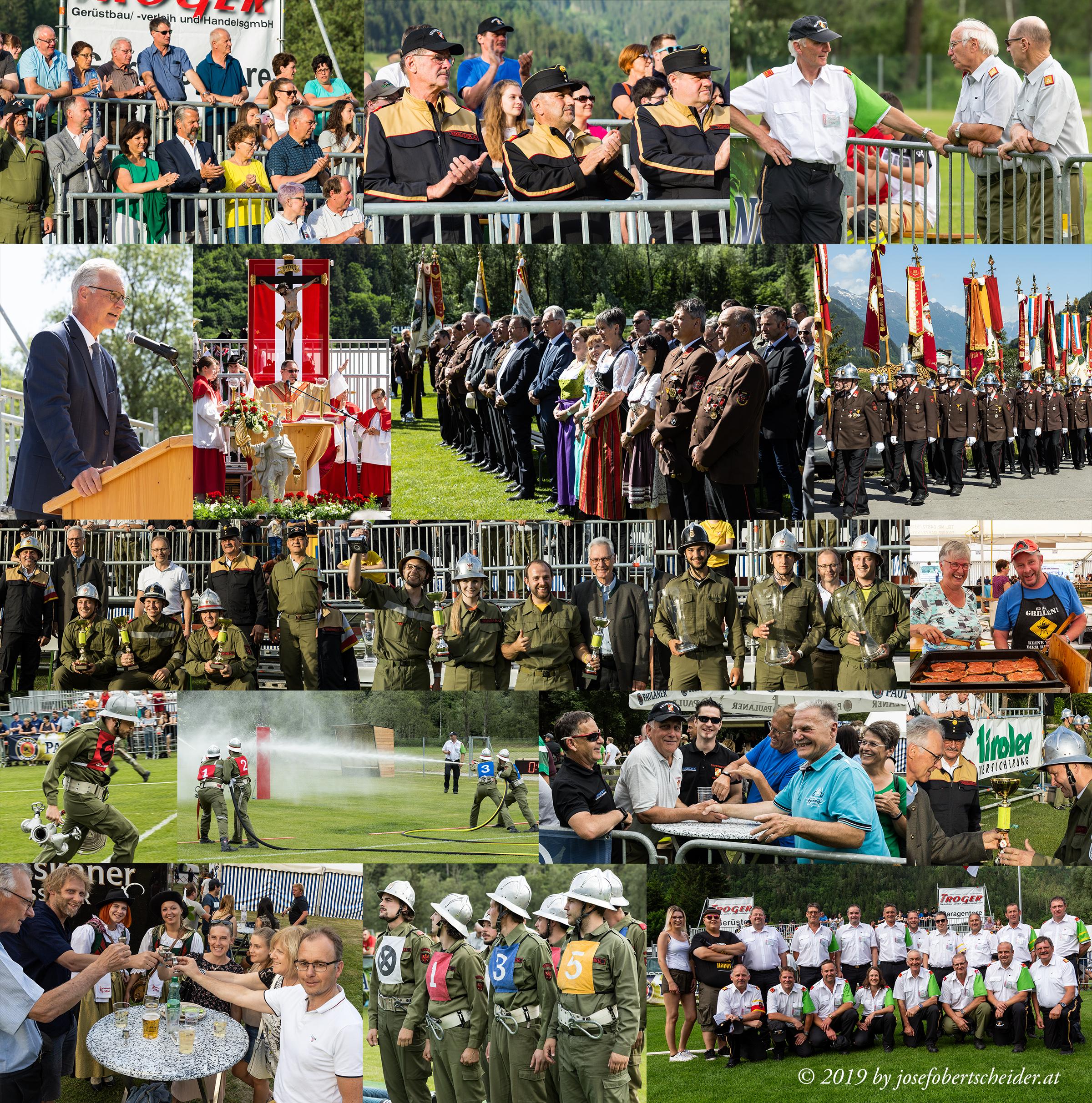 27. Bezirksfeuerwehrbewerb in Ainet, 127. Bezirksfeuerwehrtag 2019 in Ainet, Jubiläum 125 Jahre Freiwillige Feuerwehr Ainet