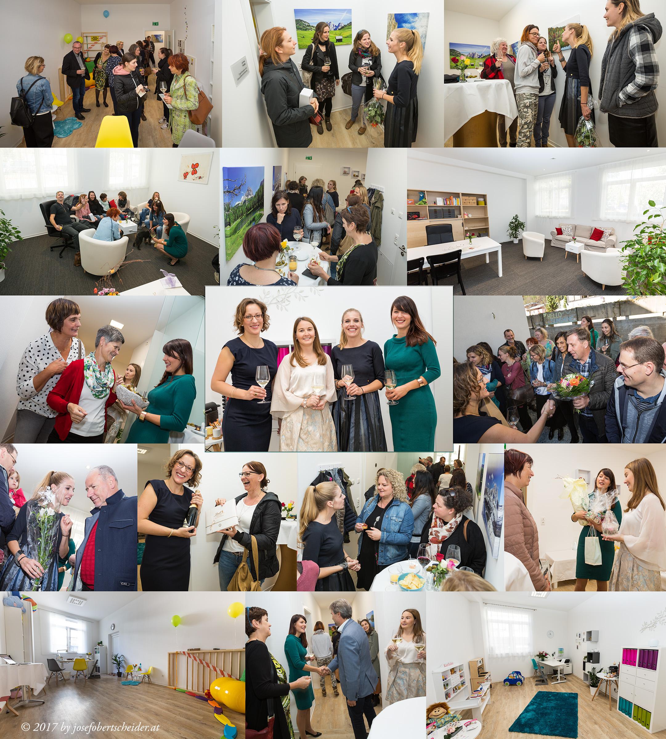 Praxiseröffnung in Lienz, Larissa Frank, Birgit Neumair, Bernadette Moser, Sarah Schrall