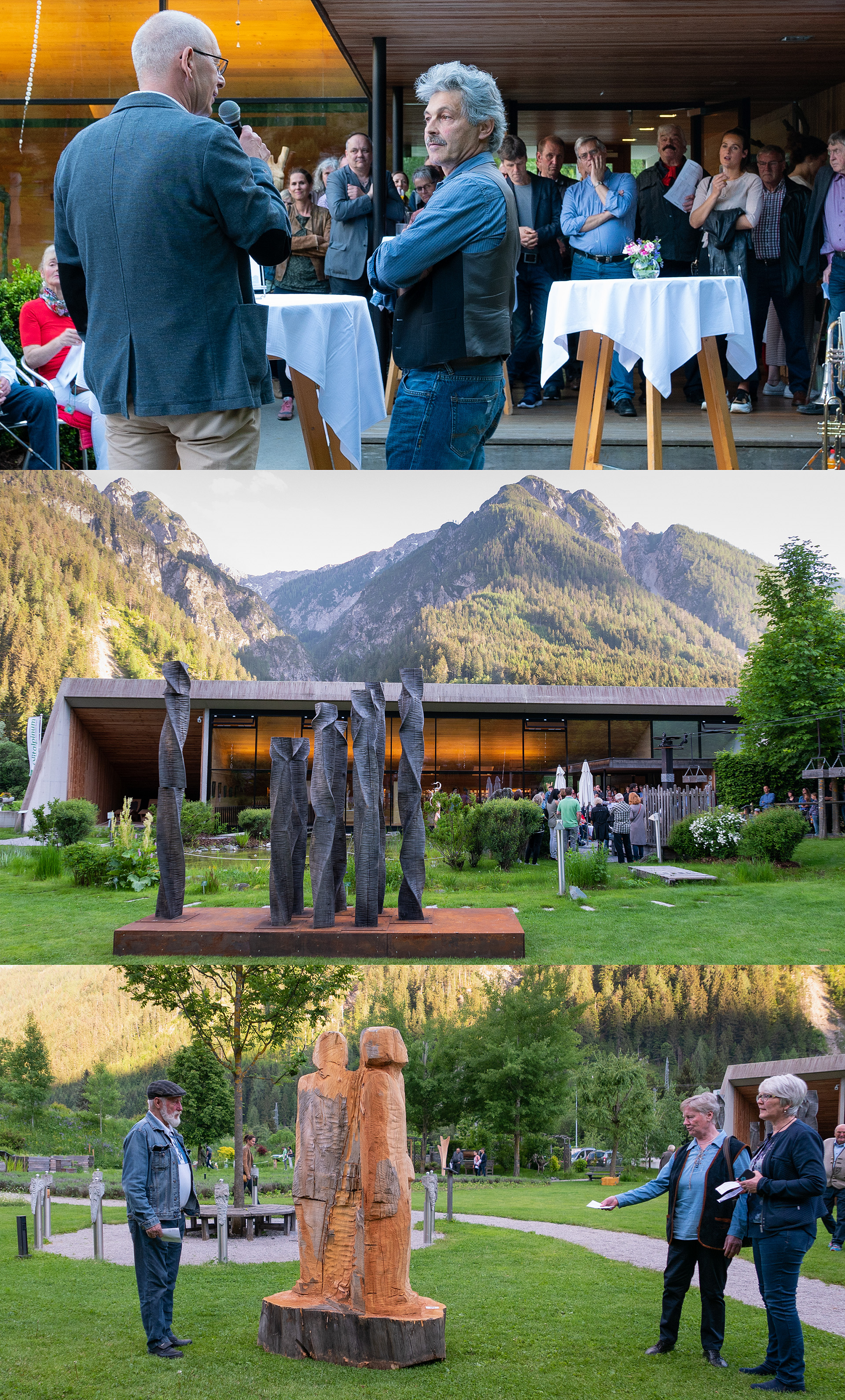 Plastiken uns Skulpturen von Sebastian Rainer und Gabriel Rauchegger im Vitalpinum in Thal-Assling