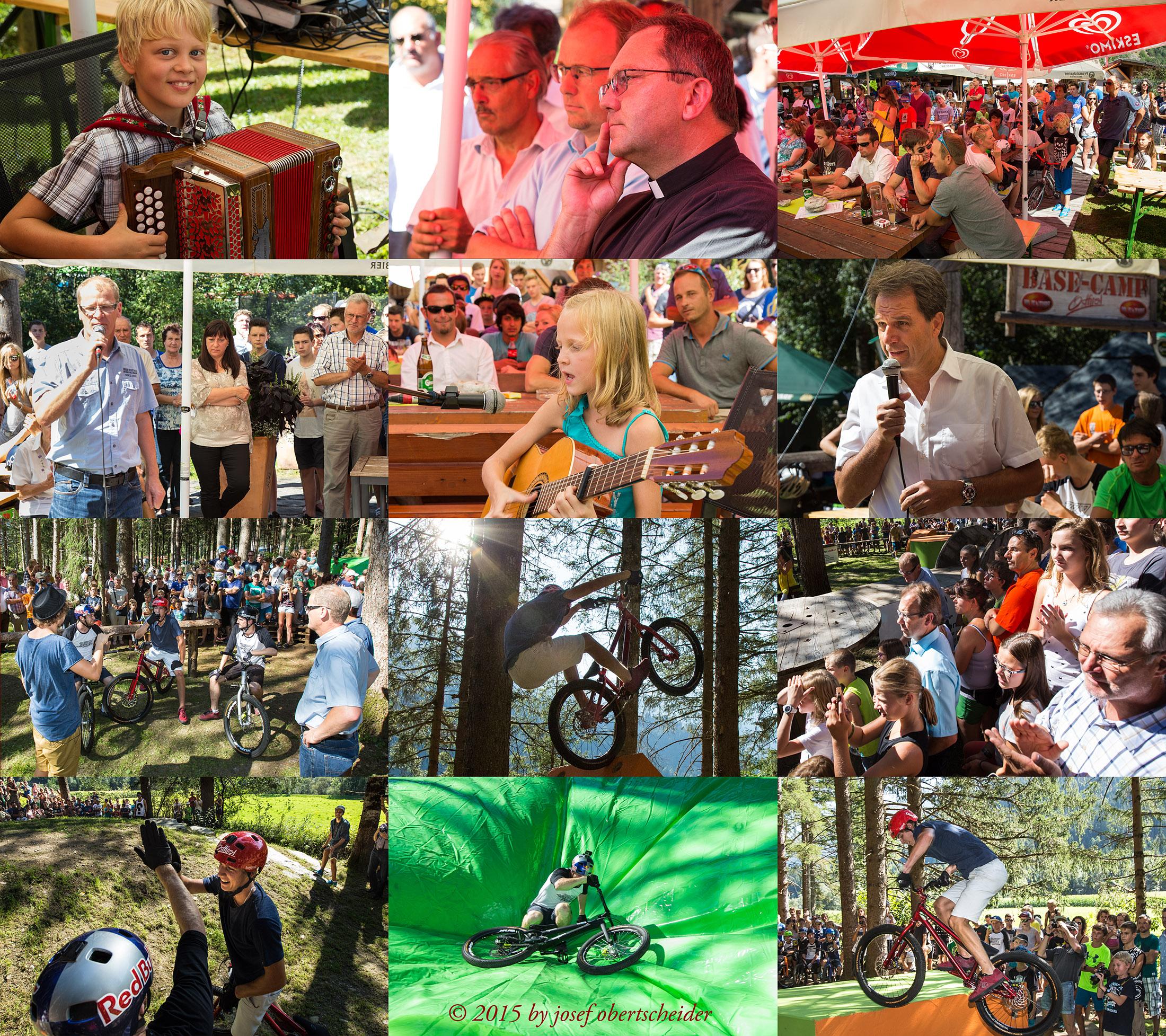 Eröffnung des Trial-Bike-Parks in Ainet