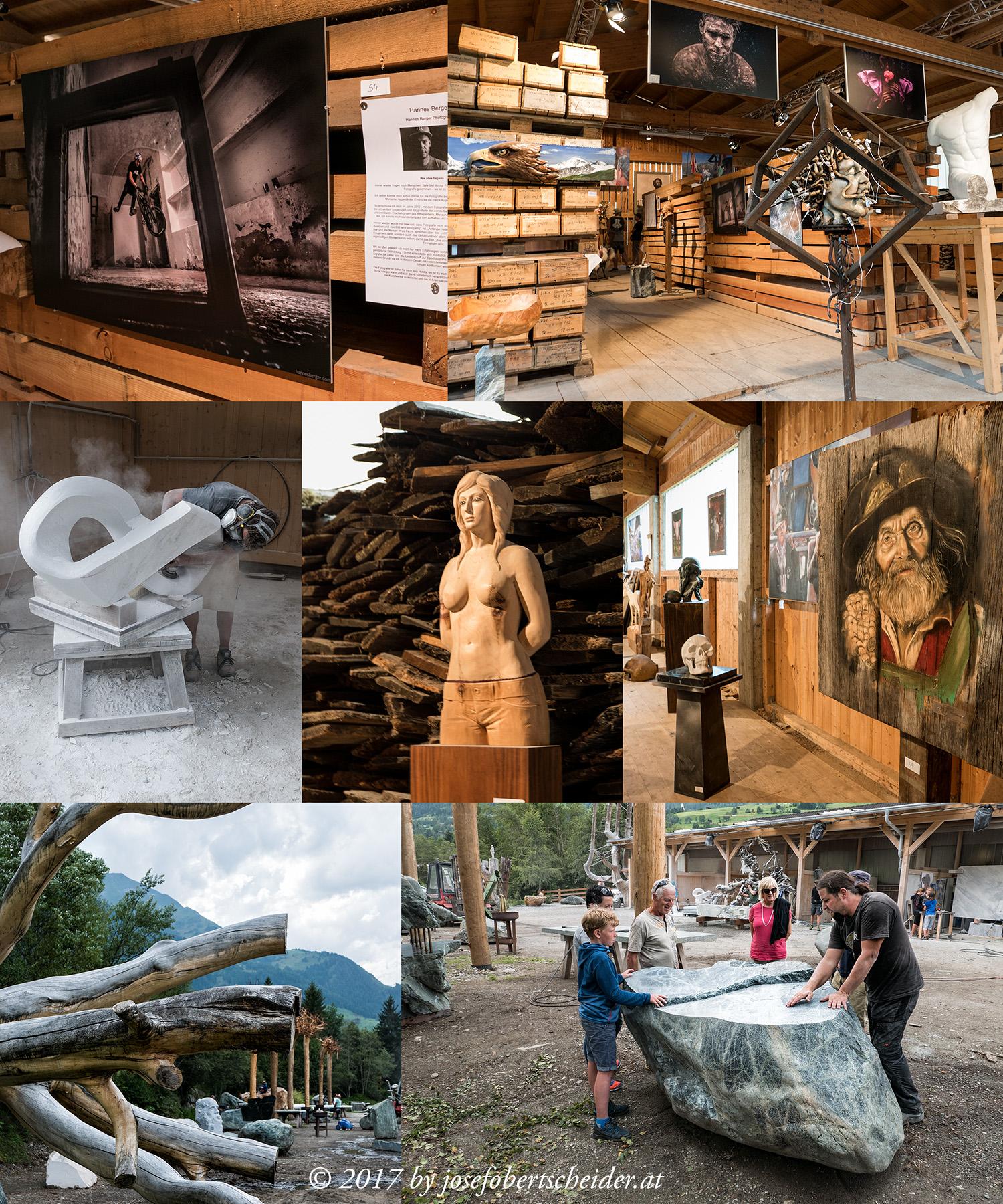 Besuch beim Bildhauersymposium in Virgen